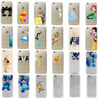 For iPhone 7 7 Plus Disney Cartoon Characters Transparent Hard Back Case Cover