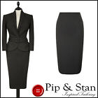 NEXT UK10 8 US6 4 BROWN 50S INSPIRED PENCIL SKIRT SUIT WOMEN LADIES SIZE