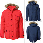 Smith And Jones Mens Baroquee Detachable Faux Fur Hood Padded Parka Jacket