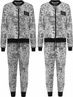 Womens Bomber Jacket Jogging Suit Ladies Bottoms Zip Fleck Print Co-Ord Set 8-14