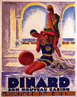 POSTER DINARD CASINO SEA WATER POOL SWIMMING FRANCE TRAVEL VINTAGE REPRO FREE SH $58.0 USD on eBay