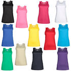 New AWDis Just Cool Womens Ladies Sports Fitness Vest Top in 12 Colours XS - XL