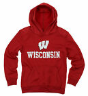NCAA Youth Wisconsin Badgers Performance Hoodie, Red