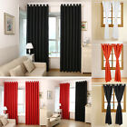Curtains Eyelet Ring Top Ready Made Pair Insulation with Free Tieback Polyester