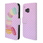 OFFICIAL MONIKA STRIGEL MACARONS LEATHER BOOK WALLET CASE COVER FOR HTC PHONES 1