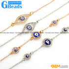 "Fashion Jewelry Turkey Evil Eye Pattern Gold Plated Bracelet 7"" Free Shipping"