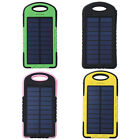 8000mAh Water-proof Solar Panel Power Bank Dual USB Shockproof Portable Charger