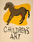 POSTER CHILDREN'S ART HORSE DRAWING VINTAGE REPRO FREE S/H