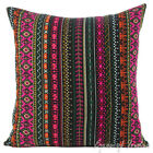 "16/18/24"" - BLACK DHURRIE PILLOW CUSHION THROW COVER Boho Bohemian Indian"