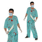 Christys Dress Up Unisex Bloody Scrubs Hospital Halloween Fancy Dress Costume