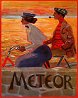 POSTER FASHION COUPLE RIDING METEOR BICYCLE BIKE CYCLE VINTAGE REPRO FREE S/H