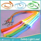 LED Pet Dog Leash Lead Flashing Luminous Adjustable Safety Light Up Nylon Tag