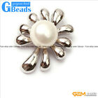 White Gold Plated Tree Shape Freshwater 10-11mm Pearl Pendant Free Shipping