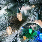 80 Warm White or Multi Coloured LED C7 Style Christmas Tree Fairy String Lights