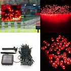 100 LED Solar Power String Lights Outdoor For Party Garden Fairy XMAS 4 color