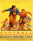 POSTER AMERICAN FOOTBALL PLAYERS NOTRE DAME SOUTH BEND USA VINTAGE REPRO FREE SH