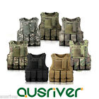 7 Colours Adjustable Military Tactical Vest Paintball MOLLE Airsoft Combat SWAT