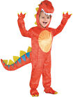 Childs Boys Dinomite Dinosaur T Rex Fancy Dress Halloween Party Costume Ages 3-9