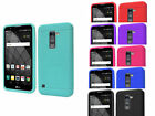 Rugged Rubber Silicon Case Cover For LG Stylo 2 Plus MS550 /K550