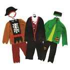 Boys Halloween Pirate, Frankenstein and Vampire Costumes Outfits Ages 4-6, 7-9,