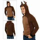 Reindeer Adults Christmas Jumper Threadbare Knitted Mens Top Womens Xmas Hoody