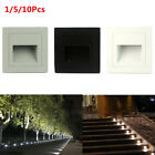 Outdoor 90-265V 3W  IP65 Wall Plinth Recessed Stair Step Aisle Lamp Corner Light