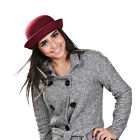 Bowler Style Good Quality Soft 100% Wool Bowler Hat 4 Different Colour