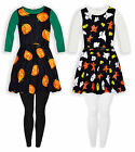 Girls Halloween Costume Outfit New Kids Dress Leggings Set Age 5-13 Years