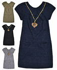 Girls Short Sleeved Tunic Top Dress New Kids Cotton Rich Marl Dresses 3-12 Years