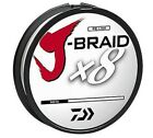 Daiwa J-Braid X8 Braided Fishing Line - 330 Yards (300 M) White Line