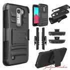 Phone Case For LG K8 V K8V VS500 Verizon Defender Case + Stand Belt Clip Holster
