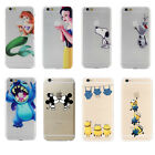 For iPhone Cartoon Funny Minions Crystal Soft Silicone TPU Clear Case Cover