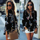 Fashion Women's Casual Long Sleeve Tops Loose Floral Blouse Ladies Tops T Shirt