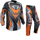 Wulf Attack Cub MX Motocross Jersey & Pants Orange Kit Enduro Off Road Junior