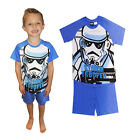 Boys Official Licensed Star Wars Stormtrooper Kids Cotton Nightwear Pyjama Set