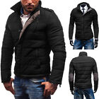 Men Casual Winter Warm Jacket Thick Padded Collar Coat Parka Winter Outwear Tops