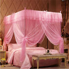 New Romantic Four Corner Post Bed Canopy Mosquito Netting for All Size image