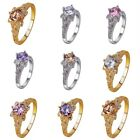 1Pc Fashion Elegant 925 Silver Plated Wedding Ring Women Jewelry