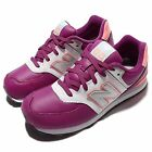 New Balance KL574JWY W Wide Purple Pink Kid Youth Running Shoe Sneaker KL574JWYW