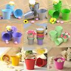 12/24/60 PCS Alloy Mini Candy Favor Box Pail Bucket Wedding Party Boxes Colors