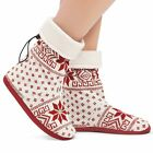 Nordic Snowflake Soft Slipper Bootie, by Collections Etc