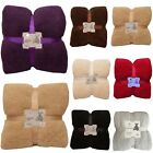 LARGE SOFT WARM FLEECE CUDDLY TEDDY BEAR THROW SOFA DOUBLE KING BED BLANKET