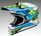 SHOEI VFX-W TURMOIL TC2 BLUE MX MOTOCROSS RACE SPEC MOTORCYCLE OFF ROAD HELMET