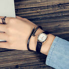 Women Leather Strap Quartz Watch Regular Current Simple Vintage Retro Wristwatch