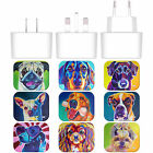 OFFICIAL DAWGART DOGS WHITE UK CHARGER & MICRO-USB CABLE FOR HUAWEI PHONES 1