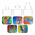 OFFICIAL DAWGART WILDLIFE WHITE UK CHARGER & MICRO-USB CABLE FOR LG PHONES 2