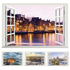 Hot 3D Window View Removable Wall Sticker Vinyl Art Home Decal Decor Mural NWT