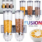 DOUBLE TRIPLE CEREAL DISPENSER DRY FOOD STORAGE CONTAINER DISPENSER MACHINE GREY
