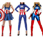 Adult Costume The Avengers Captain America Fancy Dress Cosplay Women Superhero