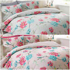 New Floral Printed Duvet Cover Bedding Set with Pillowcase - Reversible